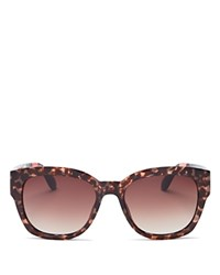 Toms Audrina Oversized Square Sunglasses 56Mm Rose Tortoise Brown Gradient