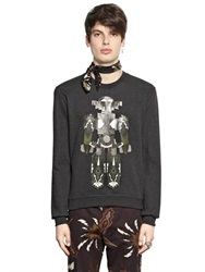 Msgm Tribal Robot Printed Cotton Sweatshirt