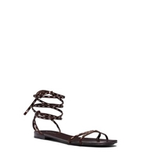 Michael Kors Bale Runway Leather Sandal Nutmeg