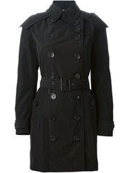 Burberry Brit Belted Trench Coat Black