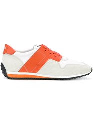Tod's Colour Block Lace Up Sneakers White