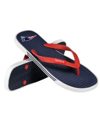 Forever Collectibles New England Patriots Thong Sandals Navy