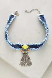 Anthropologie Maitea Denim Choker Blue