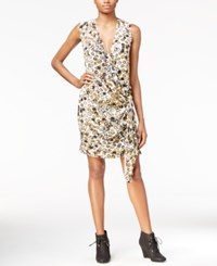 Rachel Roy Draped Faux Wrap Dress Only At Macy's Ivory Combo