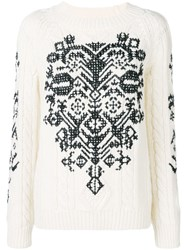 Red Valentino Crew Neck Jumper White