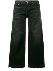 Simon Miller Cropped Frayed Jeans Black