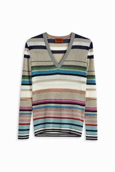 Missoni Women S Lurex Multi Striped Top Boutique1