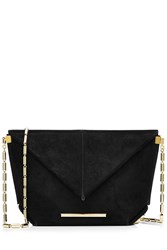 Roland Mouret Suede Shoulder Bag Black