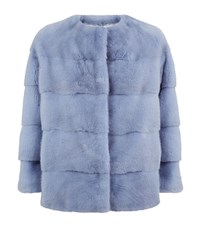 Lilly E Violetta Sarah Mink Jacket Blue
