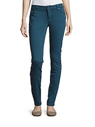Burberry Five Pocket Skinny Fit Jeans Deep Teal