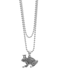 Lagos Sterling Silver Rare Wonders Frog Prince Pendant Ball Chain Necklace 34