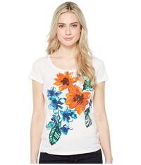 Tommy Bahama Celena Blooms Short Sleeve Tee White Women's T Shirt