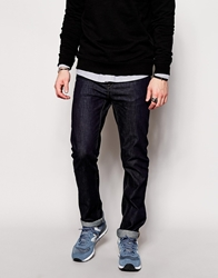 French Connection Raw Jeans In Slim Fit Rawdarknavy