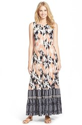 Women's Nic Zoe 'Tropical Tides' Tiered A Line Maxi Dress