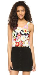 Wildfox Couture Bouquet Crochet Lola Tank Pearl