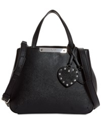 Guess Britta Society Small Top Handle Satchel Black