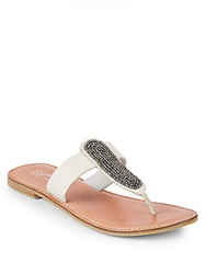Seychelles So Much Time Beaded Leather Thong Sandals White