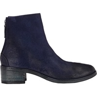 Back Zip Ankle Boots Blue