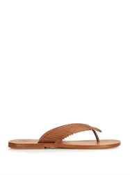 Tomas Maier Fringed Leather Sandals