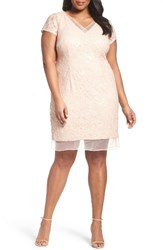 Adrianna Papell Plus Size Women's Sequin Lace Sheath Dress