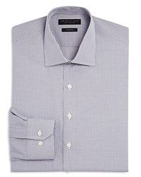 Bloomingdale's The Men's Store At Mini Check Slim Fit Dress Shirt Grey