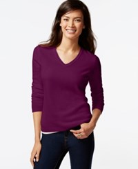 Charter Club Cashmere V Neck Sweater Only At Macy's 18 Colors Available Black Cherry