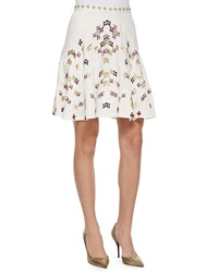 Elle Sasson Amelia Embroidered A Line Skirt