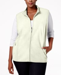 Karen Scott Plus Size Fleece Vest Only At Macy's Eggshell