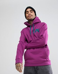 Analog Crux Technical Oversized Hoodie In Purple Grapeseed