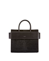 Givenchy Horizon Small Astrakhan Embossed Leather Tote Bag Black