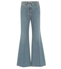 Valentino Vlogo High Rise Flared Jeans Blue