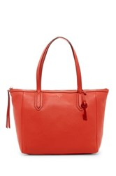 Fossil Sydney Leather Tote Red