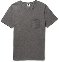 Nn.07 Todd Melange Cotton T Shirt Gray