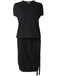 Brunello Cucinelli Short Sleeve Sweater Dress Black
