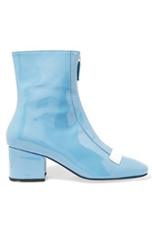 Dorateymur Double Delta Patent Leather Ankle Boots Light Blue