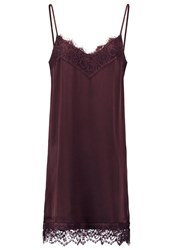 Vila Viello Summer Dress Chocolate Plum Dark Brown