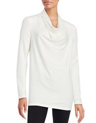 Lord And Taylor Solid Cowlneck Top Ivory