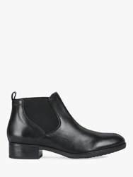 Geox 'S Felicity Leather Chelsea Boots Black
