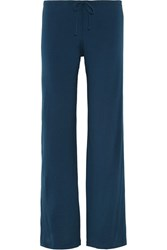 La Perla Souple Stretch Cotton Jersey Pajama Pants Royal Blue
