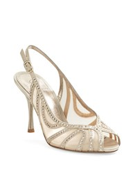 Adrianna Papell Fiji Embellished Slingback Pumps Gold