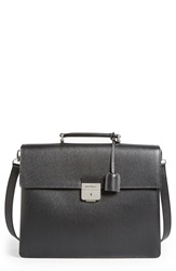 Salvatore Ferragamo 'Revival' Leather Briefcase Black