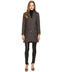 Manila Grace Tweed Coat Brown Women's Coat