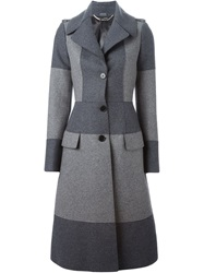 Alexander Mcqueen Two Tone Evening Coat Grey