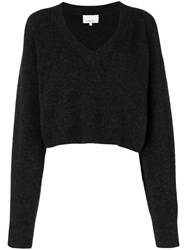 3.1 Phillip Lim Cropped V Neck Sweater Grey