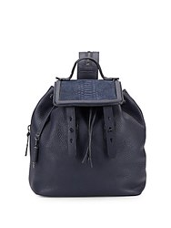 Mackage Tanner Leather And Suede Backpack Ink