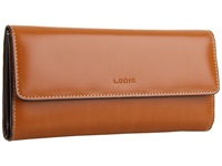 Lodis Audrey Checkbook Clutch Toffee Wallet Handbags Brown
