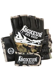 Boxeur Des Rues Tribal Leather Mma Gloves