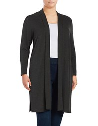 Vince Camuto Plus Open Front Cardigan Grey