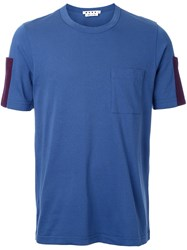 Marni Sleeve Pocket T Shirt Blue