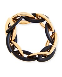 Vhernier Doppio 18K Rose Gold And Ebony Link Bracelet